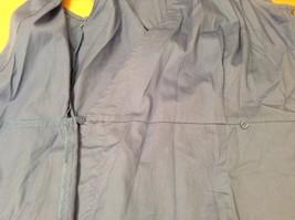 Ann Taylor LOFT Blue Sleeveless V-neck Cotton Blouse Top, size 12, shape fit image 9