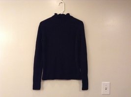 GAP Black 100% Cotton Turtleneck Knitted Cable Sweater, size L