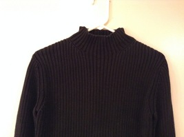 GAP Black 100% Cotton Turtleneck Knitted Cable Sweater, size L image 2
