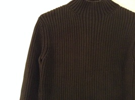 GAP Black 100% Cotton Turtleneck Knitted Cable Sweater, size L image 3