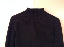 GAP Black 100% Cotton Turtleneck Knitted Cable Sweater, size L image 6