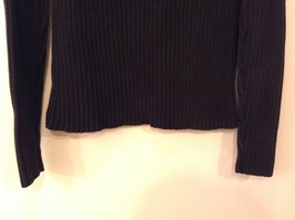 GAP Black 100% Cotton Turtleneck Knitted Cable Sweater, size L image 7