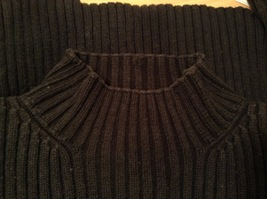 GAP Black 100% Cotton Turtleneck Knitted Cable Sweater, size L image 9