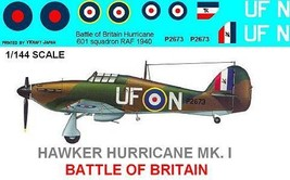 1/144 scale Resin Model Kit Hawker Hurricane Battle of Britain - $12.00