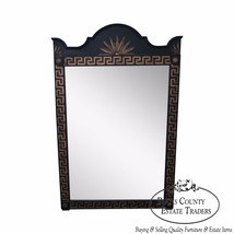 Vintage Hollywood Regency Style Black & Gold Mirror w/ Greek Key - $795.00