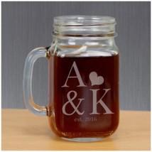 Personalized Wedding Gifts Engraved Couples Established Mason Jar PGL100... - $12.90