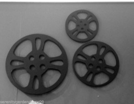 "3 pc set Metal Film Reel Wall Decor Home Theatre Decor - Sizes  15"" 11.5"" 8.8"" D"