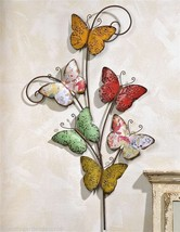"36""  Iron Multi Butterfly Design Wall Decor Piece"