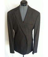HUGO BOSS Jacket Size 40 Polyester Blend Charcoal Gray Three Button HAND... - $70.98
