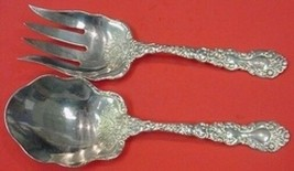 "Imperial Chrysanthemum by Gorham Sterling Silver Salad Serving Set 2pc 10"" - $709.00"