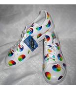 NIB Sweet Adidas Originals Stan Smith Holographic Rainbow Circle LGBT Sz 11 - $89.99