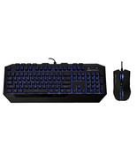 Cooler Master CM Storm Devastator Blue LED Gaming Mouse and Keyboard Combo - $52.66 CAD