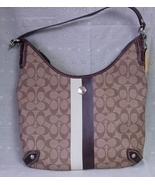 Coach Hobo Handbag Purse Brown Beige Yellow