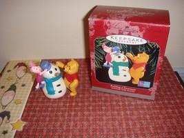 Hallmark 1998 Building A Snowman Winnie The Pooh Ornament - $10.99