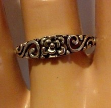 Sterling Silver ring size 6 Infinity Rose Celtic Band Flower Knuckle New... - $9.26