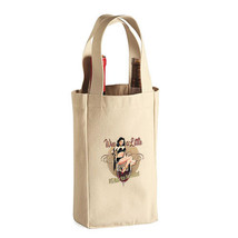 Wine A Little New Double Bottle Spirits Cloth Tote Bag Gifts Events Parties - $11.99