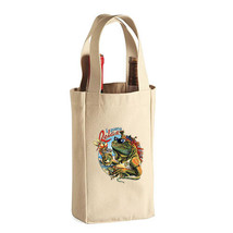 Iguana Relax New Double Bottle Wine Tote Bag Gifts Events Parties Pub Bar - $11.99