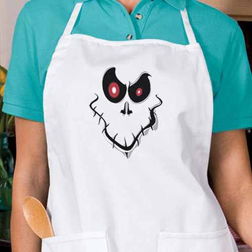 Creepy Halloween Ghost Face New Apron, Kitchen, Parties, Events, Gifts