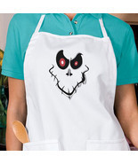 Creepy Halloween Ghost Face New Apron, Kitchen, Parties, Events, Gifts - $25.64 CAD