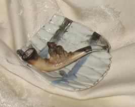 Antique Porcelain Cat Pipe Ashtray OOAK - $185.00