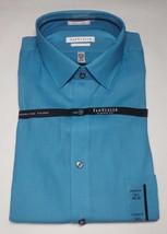 Van Heusen Men's Classic Fit  Solid  Blue Azure Color Shirt Size 16 34/35 - $17.99
