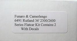 Funaro & Camerlengo HO Rutland 2300/2600 Flatcar,  2 cars per Kit 6491 image 3