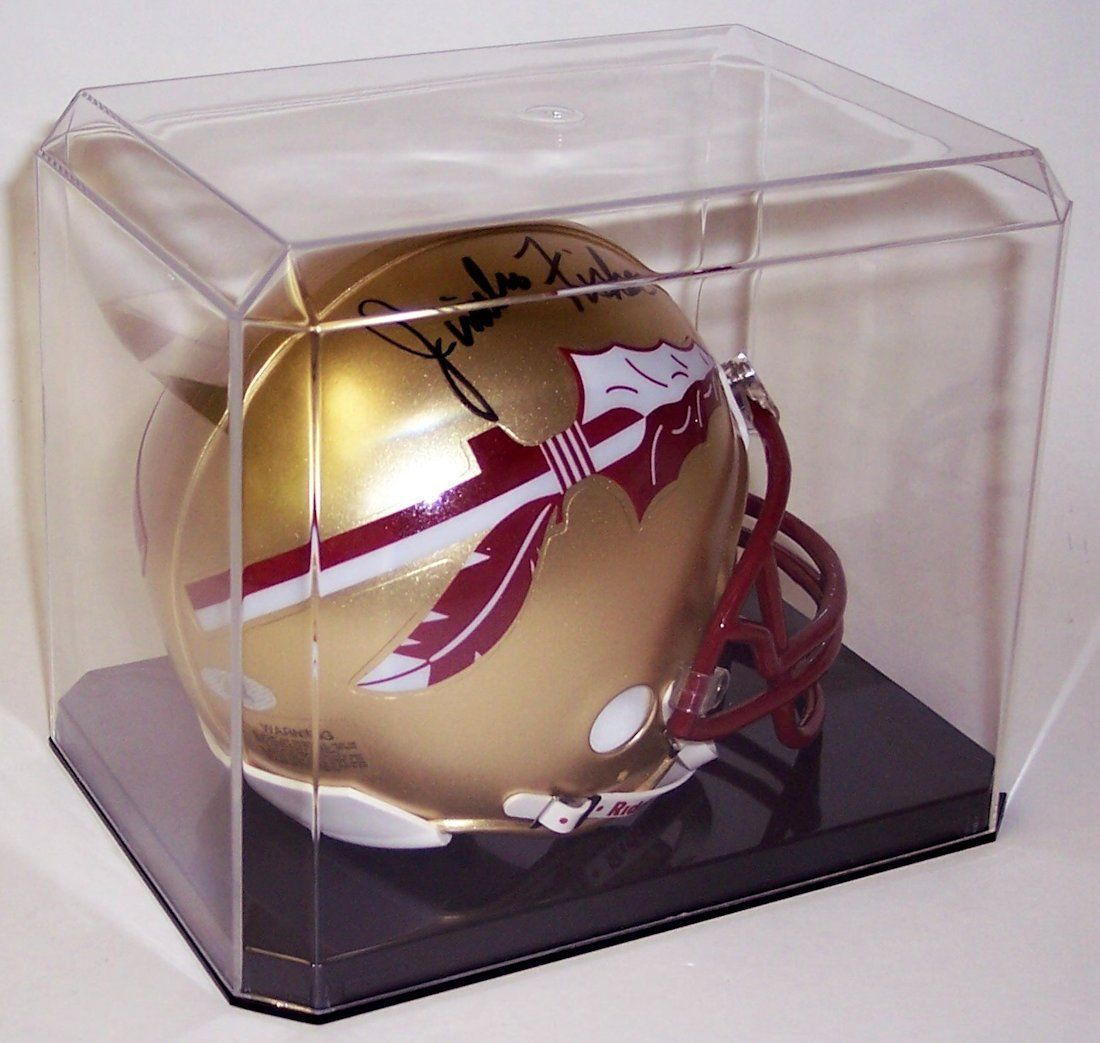 DELUXE MINI FOOTBALL HELMET CRYSTAL CLEAR DISPLAY CASE PROTECH
