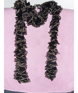 Black and gold ruffle scarf thumbtall