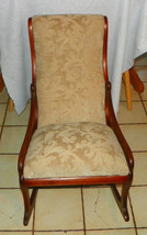 Walnut Sewing Rocker / Rocking Chair - $399.00