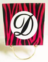 Hot Pink Zebra Print 4in. Ceramic Tile w/ Custo... - $4.90