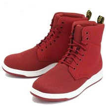 Doc Martens Red Mesh Nubuck Leather RIGAL Unisex Lightweight Boots W-8 /... - $79.99