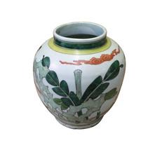 Chinese Oriental People Scenery Graphic Ceramic Vase cs4061 - $389.00