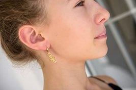 Handmade JenniferLovey Ballerina Doll Earrings Women Girl Rhodium Plated - $46.85