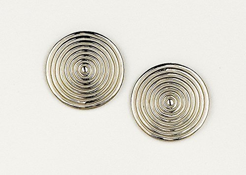JenniferLovey Women Gold Plated Stud Earrings Tribal Statement Circle Disks