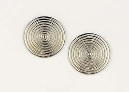 JenniferLovey Women Gold Plated Stud Earrings Tribal Statement Circle Disks - $46.85