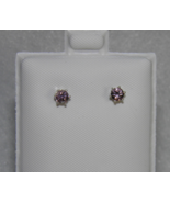 New .31ctw Sterling Silver Stud Earrings Lt Pin... - $12.00