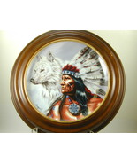 """2637 """"SPIRIT OF THE WHITE WOLF"""" Indian Franklin Mint Heirloom Recommenda... - $25.00"""