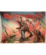IRON MAIDEN Eddie UK Trooper Cloth Fabric Poste... - $13.84