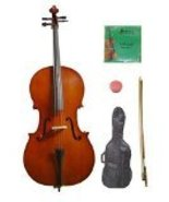 Lucky Gifts 4/4 Size Student Cello,Bag,Bow+Rosin+Extra Strings for Repla... - $125.99