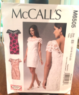 McCalls M6505 Phoebe Couture Lace Fitted Cocktail, Party, Prom Dress Siz... - $6.00