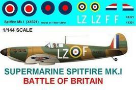 1/144 scale Resin Model Kit Supermarine Spitfire MK I Battle of Britain - $12.00