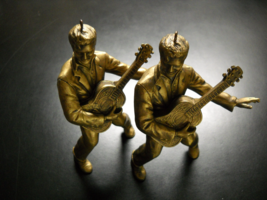 Elvis Presley Christmas Ornaments Bronze Color Resin Set of Two Five Inc... - $8.99