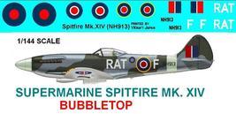 1/144 scale Resin Model Kit Supermarine Spitfire MK XIV Bubbletop - $12.00