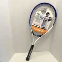Head TI Conquest Adult Tennis racket 4 1/2-4 Titanium Blue/White Oversized Head - $26.95