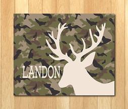 Camo Deer Art Print 8 x 10  ~ Landon ~ Levi ~ Lucas ~ Luke ~ Liam - $9.84