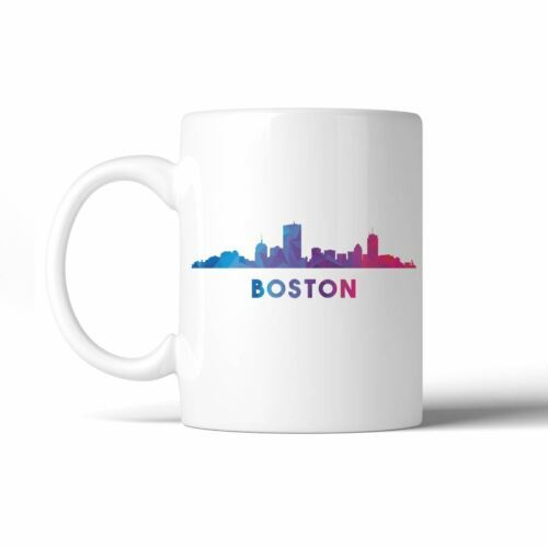 365 Printing Polygon Skyline Multicolor Downtown White Mug image 4