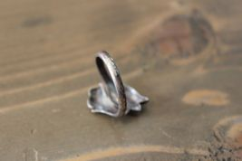 Sterling Silver - AVON Tulip Flower Ring Size 8 image 3