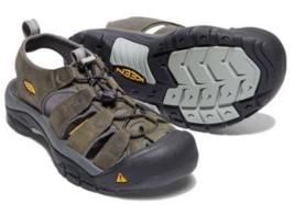 Keen Newport Sz 9 M (D) Gr.42 Herren Leder Sport Sandalen Schuhe Grau/Gargoyle