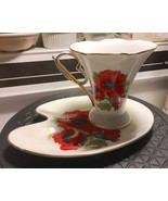 Cup & Saucer By Auratic From The Ansin Luxury Collection Flower Design G... - $11.87