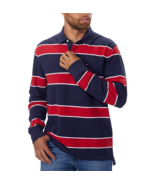 Men's Tommy Hilfiger Rugby Polo Long Sleeve Shirt Classic Fit 100% Cotton,L - £19.72 GBP